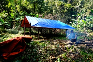 First camp in Xe Sap