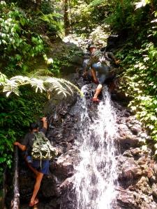 Going up steep terrain
