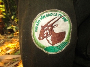 Arm patch of a Hue Saola Nature Reserve forest ranger